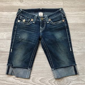 True Religion Jean Bermuda Shorts Women's 26 D56
